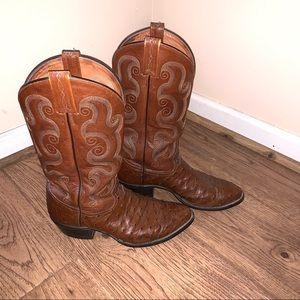 a1ad99a67b7 Tony Lama Shoes | Vaquero Black Western Cowboy Boots 85d | Poshmark